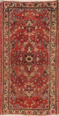Vintage Floral Red Hamedan Persian Area Rug 2x3
