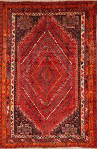 Geometric Red Lori Persian Area Rug 5x8