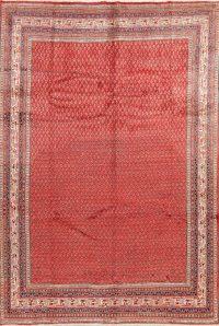 Vintage Boteh Botemir Persian Red Area Rug 7X10
