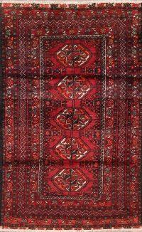Geometric Balouch Afghan Area Rug 3x4