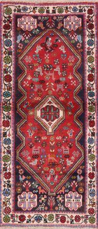 Tribal Geometric Abadeh Persian Runner Rug 2x5
