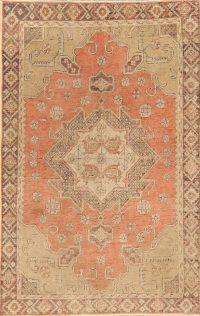 Antique Geometric Anatolian Turkish Area Rug 4x6