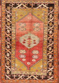 Vintage Geometric Anatolian Turkish Area Rug 4x6