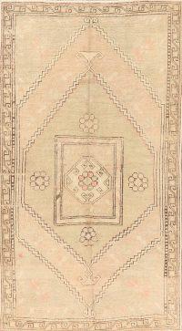 Antique Geometric Anatolian Turkish Area Rug 4x7