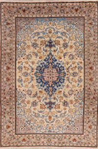 Vintage Floral Najafabad Persian Area Rug 7x11