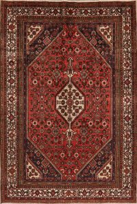 Geometric Red Hamedan Persian Area Rug 7x10