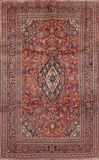 Vintage Floral Red Kashan Persian Area Rug 6x10
