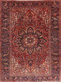 Vintage Geometric Heriz Persian Area Rug 8x11