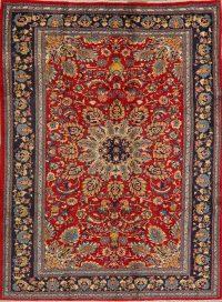 Floral Sarouk Persian Red Area Rug 6x9