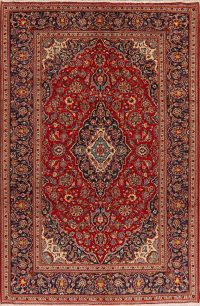 Floral Kashan Persian Red Area Rug 6x10