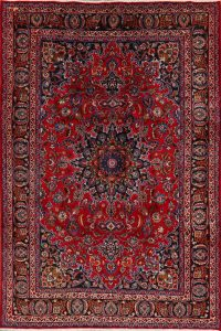 Floral Mashad Persian Red Area Rug 7x10