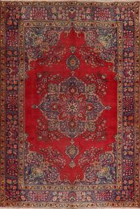Floral Tabriz Persian Red Area Rug 6x10