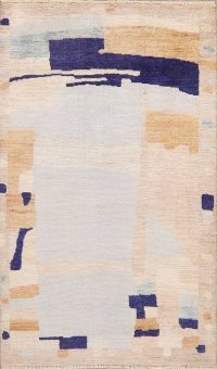 Vegetable Dye Muted Modern Turkish Area Rug 3x5