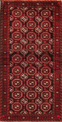 All-Over Geometric Balouch Oriental Area Rug 4x7