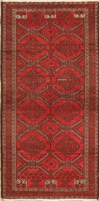 All-Over Geometric Balouch Persian Area Rug 3x5