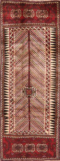 Tribal Geometric Zanjan Persian Runner Rug 3x8