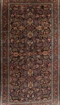 Vegetable Dye Large Floral Ghazvin Persian Area Rug 11x21