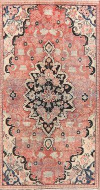 Antique Floral Mahal Persian Area Rug 3x6