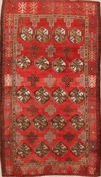 Antique Geometric Balouch Persian Area Rug 4x7