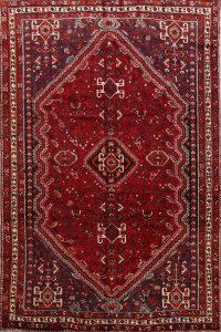 Tribal Geometric Red Shiraz Persian Area Rug 7x10