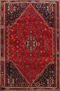 Tribal Geometric Shiraz Persian Area Rug 6x9