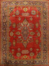 Antique Sultanabad Vegetable Dye Persian Area Rug 12x15