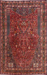 100% Vegetable Dye Red Kashkoli Persian Area Rug 5x8