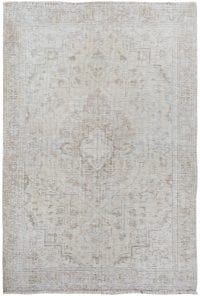 Muted Floral Tabriz Persian Distressed Area Rug 3x5