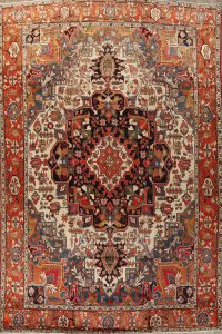 100% Vegetable Dye Heriz Serapi Persian Area Rug 10x13