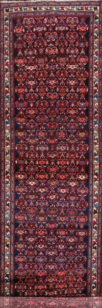 100% Vegetable Dye Bakhtiari Persian Runner Rug 4x18