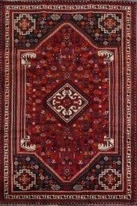 Tribal Geometric Shiraz Persian Area Rug 5x9