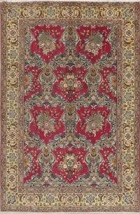 Floral Qum Persian Area Rug 5x7