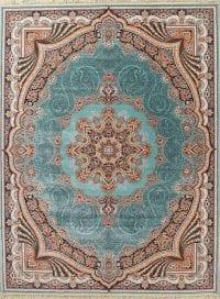 Floral Teal Tabriz Turkish Oriental 10x13 Acrylic Wool Area Rug