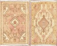 Set of 2 Vintage Hamedan Persian Rugs 1x2