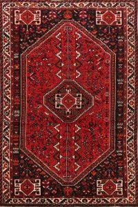 Tribal Geometric Shiraz Persian Area Rug 5x8