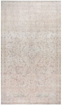 Antique Muted Tabriz Persian Distressed Area Rug 7x13