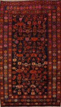 100% Vegetable Dye Geometric Bidjar Persian Area Rug 5x9