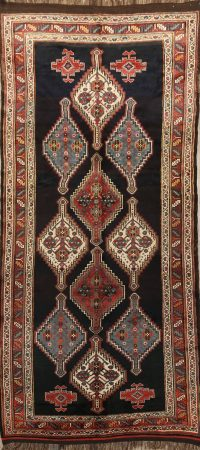 100% Vegetable Dye Antique Bakhtiari Persian Area Rug 5x11