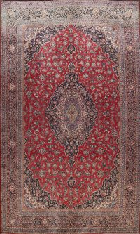 100% Vegetable Dye Large Kashan Dabir Persian Area Rug 12x17