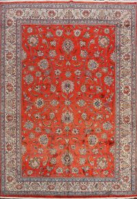 100% Vegetable Dye Sarouk Persian Area Rug 8x11