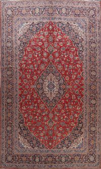 100% Vegetable Dye Kashan Persian Area Rug 10x15