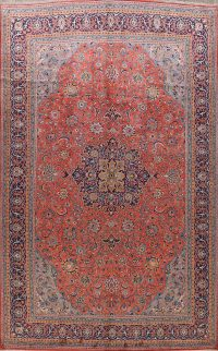 100% Vegetable Dye Sarouk Persian Area Rug 10x13