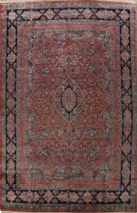 100% Vegetable Dye Antique Sarouk Persian Area Rug 14x18