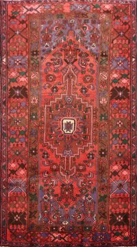Geometric Hamedan Persian Area Rug 4x7