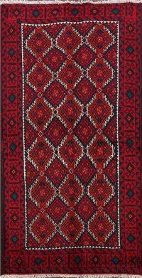 Geometric Balouch Afghan Oriental Area Rug 3x6