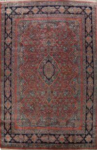 100% Vegetable Dye Antique Sarouk Persian Area Rug 14x18