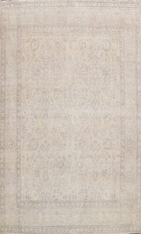 Muted Vintage Distressed Oriental Area Rug 10x12