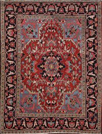 100% Vegetable Dye Antique Heriz Serapi Persian Area Rug 5x6