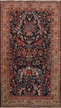 100% Vegetable Dye Antique Mahal Persian Area Rug 4x6