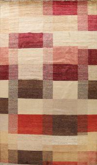 Checkered Gabbeh Kashkoli Oriental Area Rug 10x14